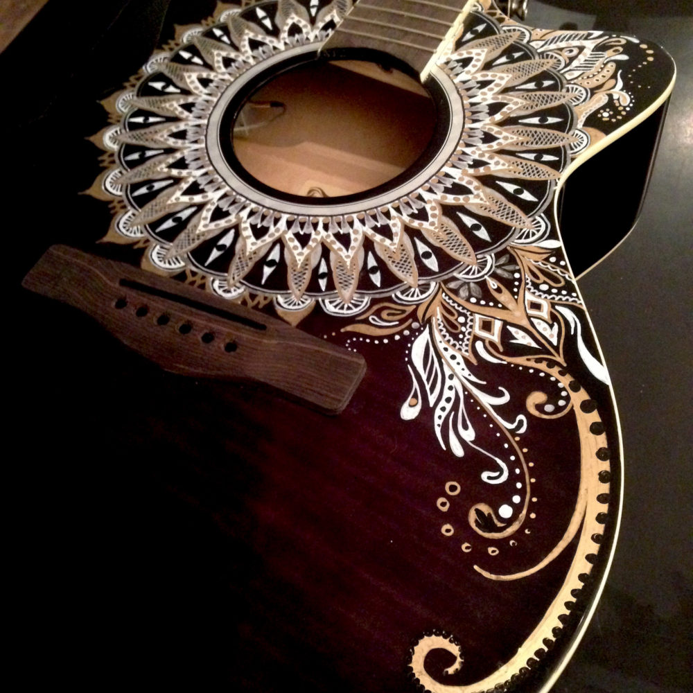 SydMo Guitar Art by Susan Zbranek at Z Custom Guitars